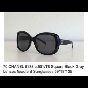 Chanel Logo Sunglasses with case